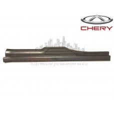Накладка порога внутренняя задняя левая (черная) Chery Amulet