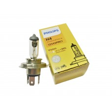 Лампа Philips H4 Vision +30% (Premium) CP 12V 60/55W, 12342PRC1
